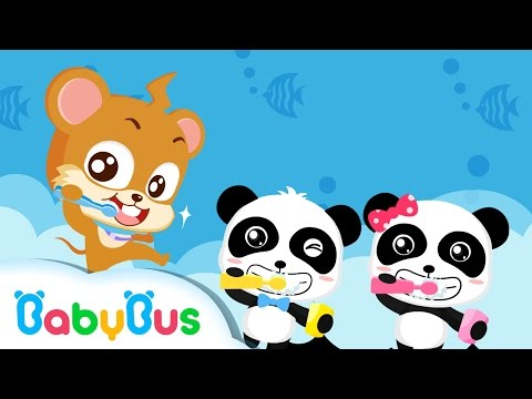 ❤ Brush Your Teeth | Animation For Babies | BabyBus | Baby Panda