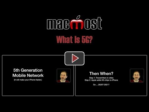What Is 5G? (MacMost #1864)