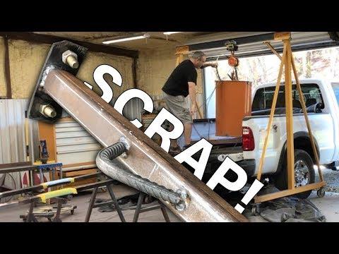 Lifting Bar From Scrap Metal for Scrap Metal-Steel Barrel Bin