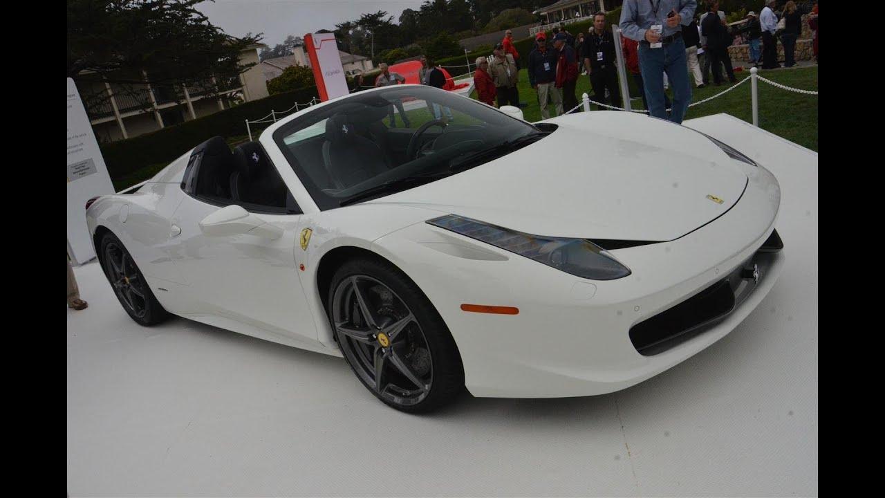 Ferrari 458 Spider White Youtube
