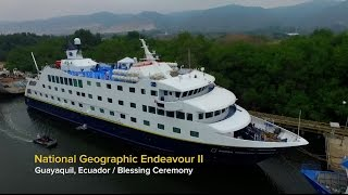Christening National Geographic Endeavour II
