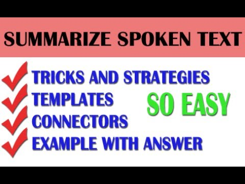 [ 100 % 90 SCORES ] SUMMARIZE SPOKEN TEXT - STRATEGIES AND TEMPLATES | PTE LISTENING