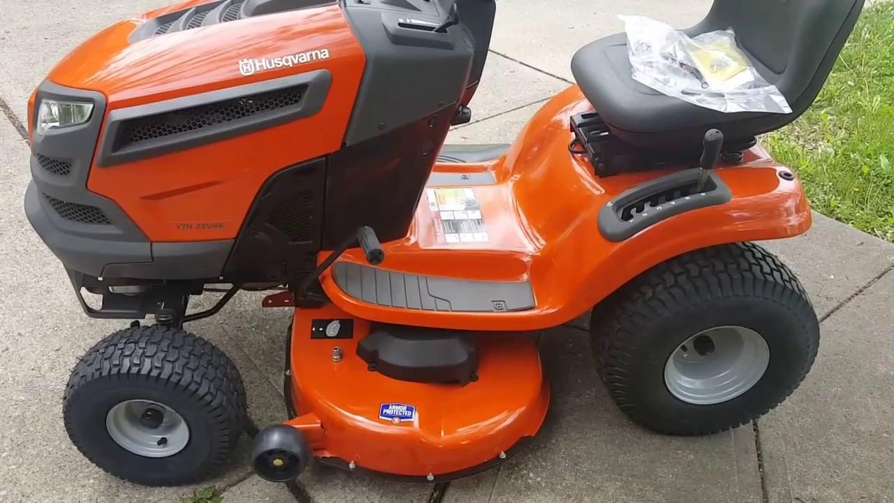 My New Husqvarna Lawn Tractor Walk Around Amp Start Youtube