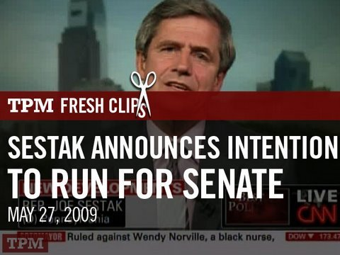 Rep. Sestak (D-PA) Announces Intention to Run for Senate