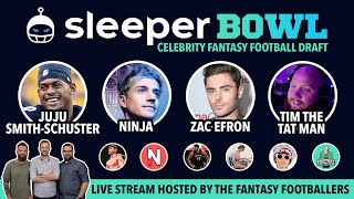 Drafting LIVE with JuJu & Ninja! Watch the SleeperBowl - Celebrity Fantasy Football Draft!