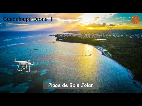 HD Drone Video | Plage de Bois Jolan, Guadeloupe