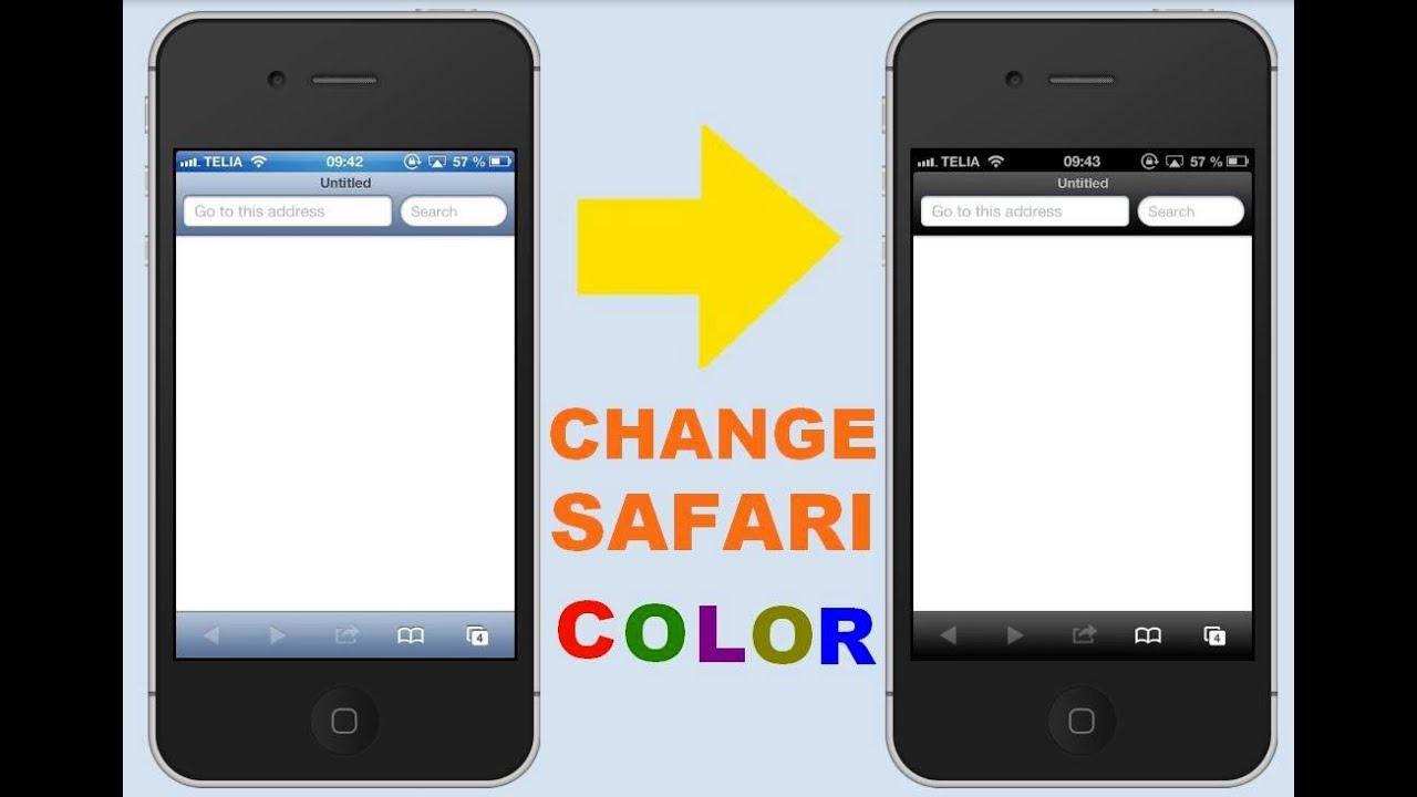 private browsing on iphone iphone tutorial change to black safari color no 15911