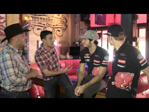 F1 Drivers Max Verstappen and Carlos Sainz Jr go Bull Riding in Texas - Off the Grid