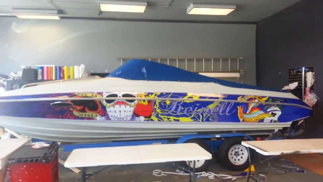 Boat Wrap Graphic Kits Youtube