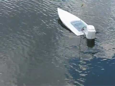 Monster Electric Rc Outboard Powerboat Youtube