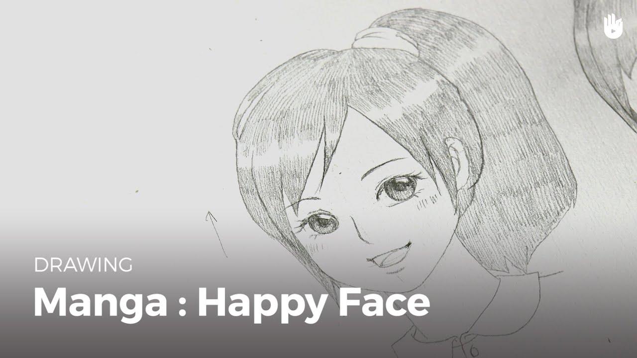 Manga draw a happy face