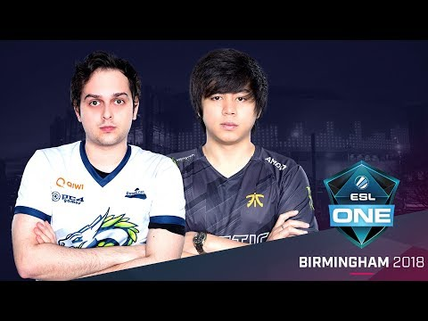 Dota 2 - Fnatic vs.  Spirit - Game 3 - Group A Decider Match - ESL One Birmingham 2018