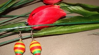 quilling paper bead earrings without mould