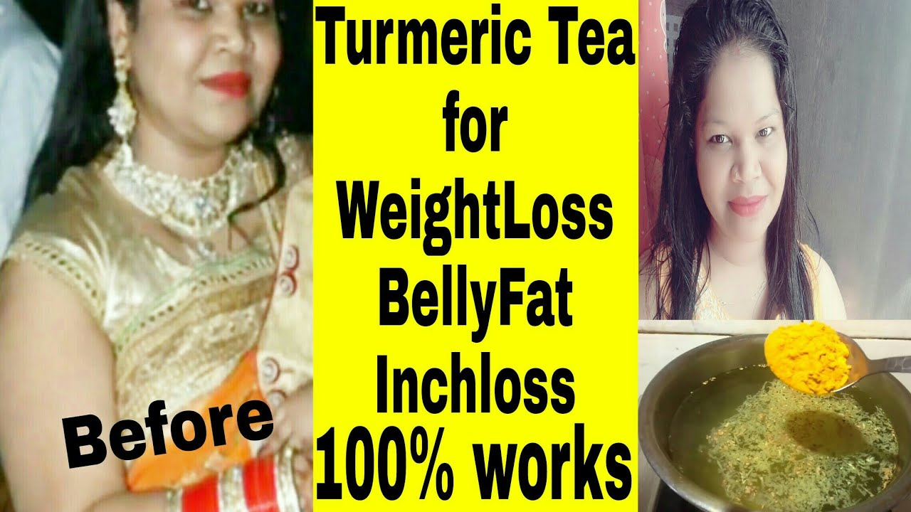 Turmeric ginger tea for weight loss in Hindi / how to get a flat belly /  चर्बी फटाफट कैसे हटाऐं