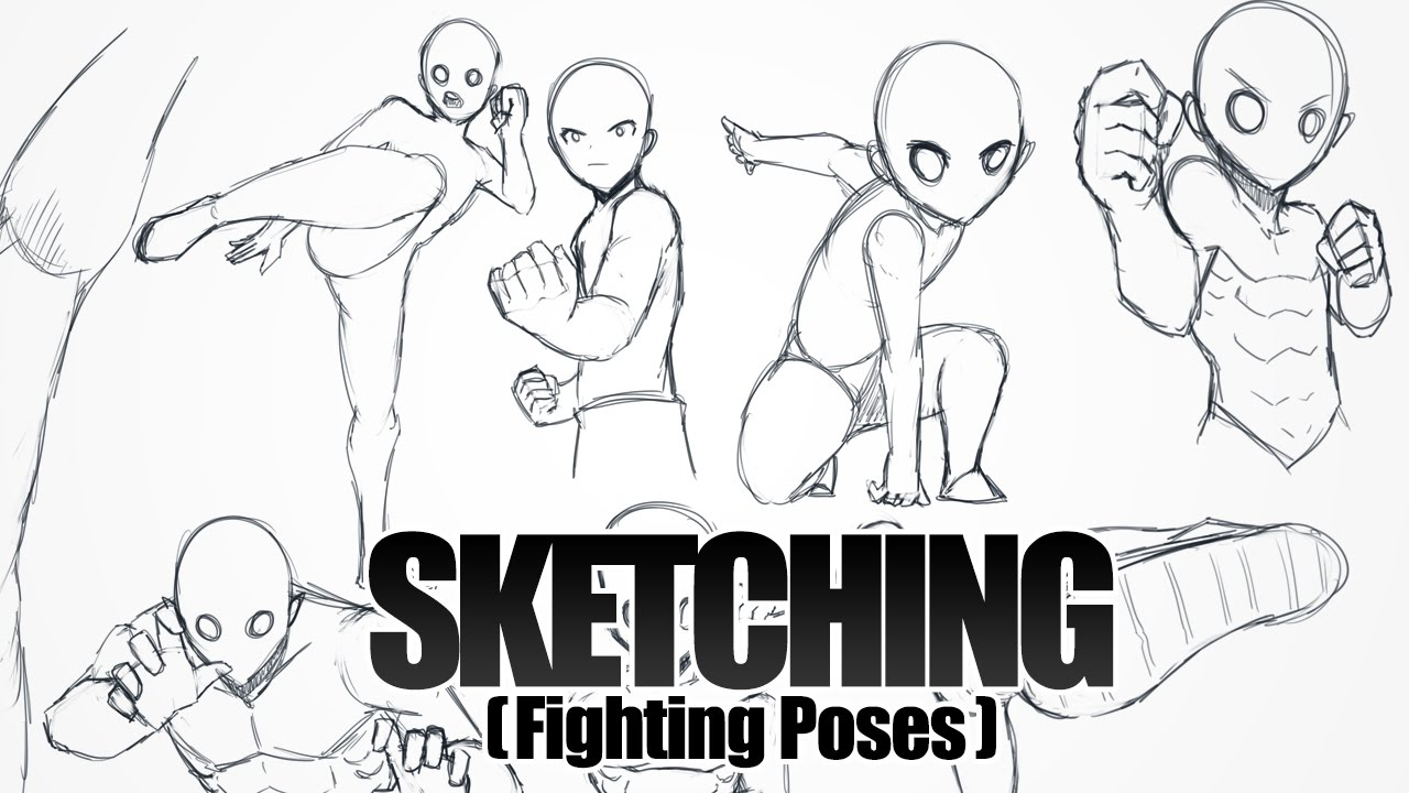 Sketching Fighting Poses Youtube
