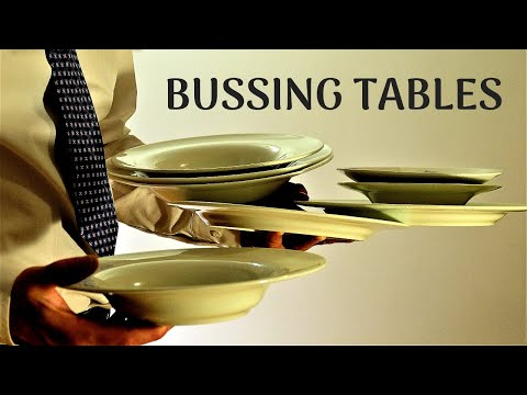 BUSING TABLES 3 - how to talk to guests, how to read a table! Waiter training Busboy/Busgirl traning
