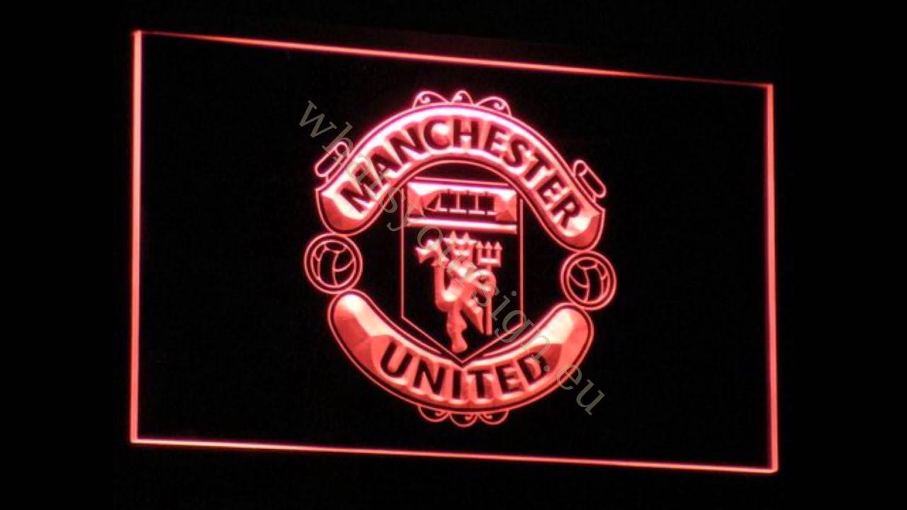 Manchester United Fc Led Neon Light Sign Display Youtube