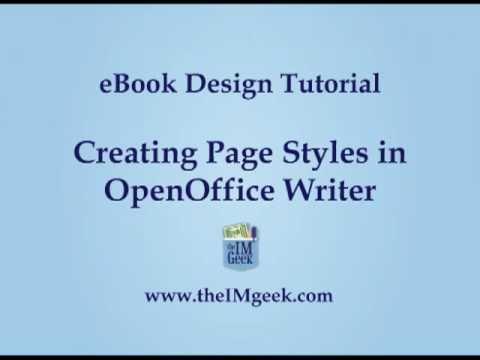 EBook Design Tutorial: Page Styles In OpenOffice