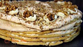 Этот ТОРТ меня покорил ТОРТ Маркиза ОЧЕНЬ вкусный и простой Рецепт с безе и грецкими орехами