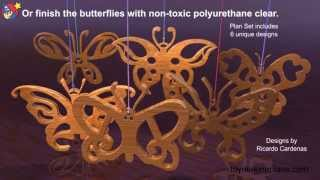 Wood Toy Plans - Little Lady Butterflies