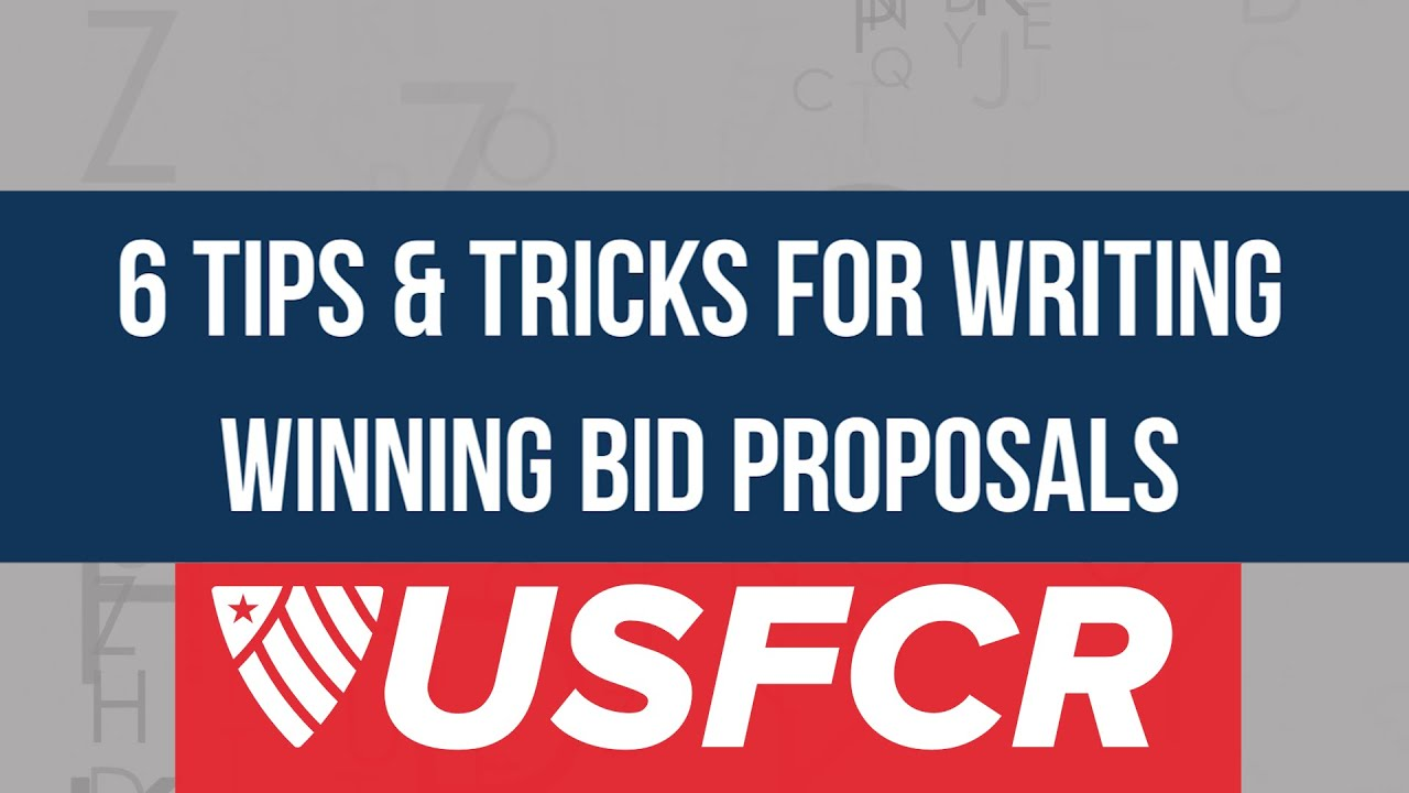 write winning bid proposals on federal contracts 6 tips tricks