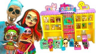 Custom LOL Bebe Bonito Family of Skeletons Sugar Skulls Go to Pet Store