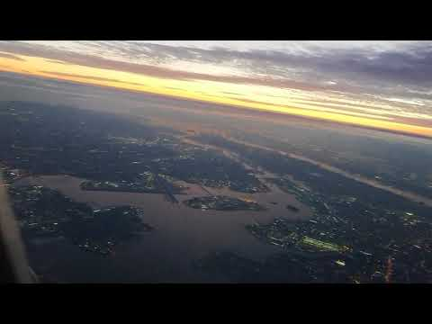 In a plane taking off from Laguardia Airport New York City - ground and sky view - Unedited