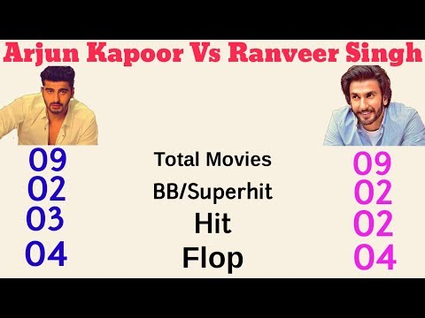 Arjun Kapoor Vs Ranveer Singh Comparison (2017) Hit And Flops Analysis