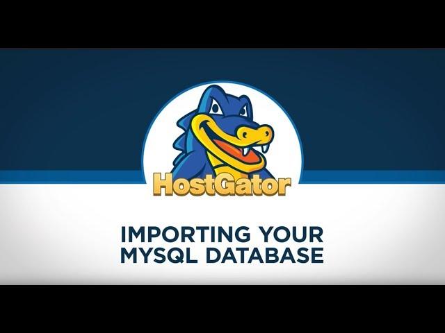 Importing MySQL Database