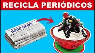 RECICLA PERIÓDICOS, CAJA CUP CAKE SORPRESA
