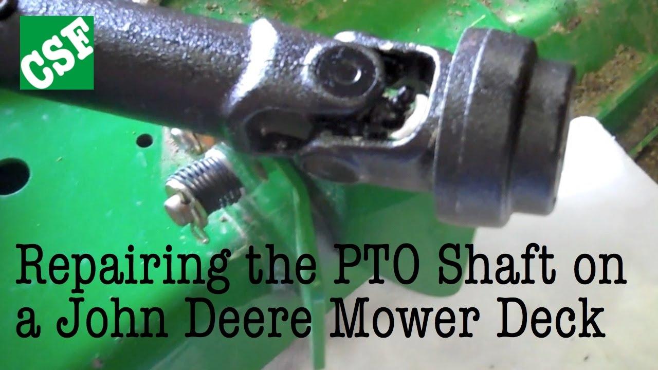 medium resolution of fixing a john deere mower deck pto shaft