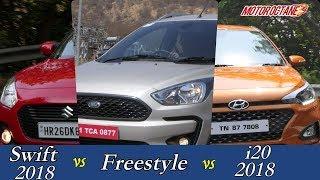 Ford Freestyle vs Maruti Swift 2018 vs Hyundai Elite i20 Comparison | MotorOctane