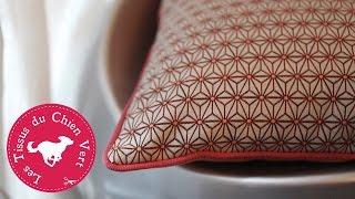 Confectionnez un joli coussin passepoilé à la machine à coudre ! Une création déco tendance et une chouette idée cadeau « cousu main » facile à réaliser ...
