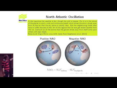 COST-EOS training: North Atlantic variability in the Met Off