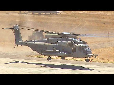 CH-53E Super Stallion Helicopters Air Lift U.S. Marine Battalion