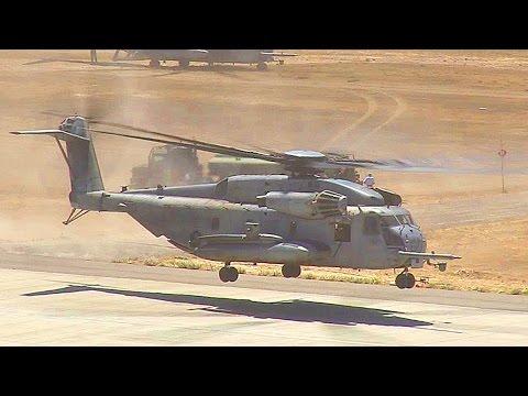 CH-53E Super Stallion Helicopters Air Lift U.S. Marine Battalion