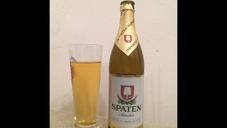 #206 Spaten Münchner Helles | 5.2%ABV (German Beer)(Brewery - Spaten/Franziskaner-Bräu Beer - Spaten Münch Style - Helles Lager ABV - 5.2% Commercial Description - Ingredients: Water, Barley Malt, Hops ..., 2016-03-14T23:52:00.000Z)