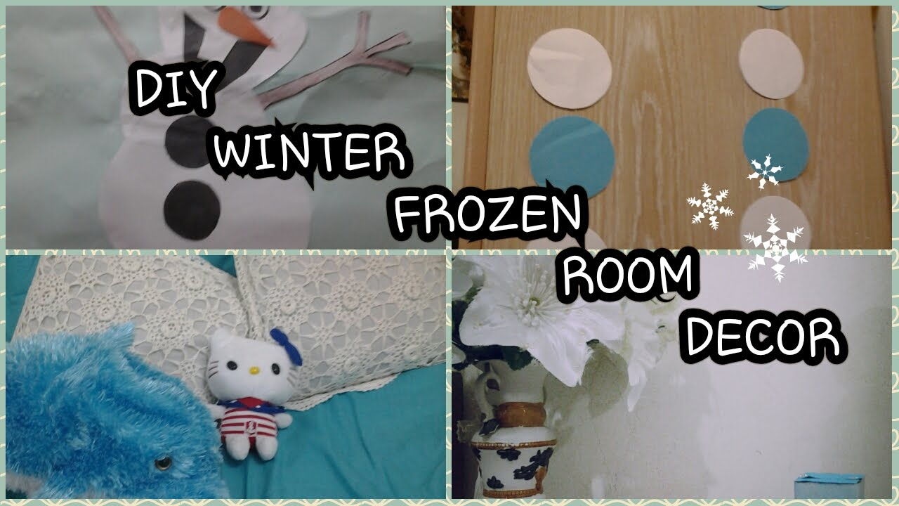 DIY WINTER FROZEN ROOM DECOR