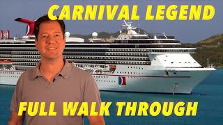 Carnival Legend - Full Walkthrough - Ship Tour