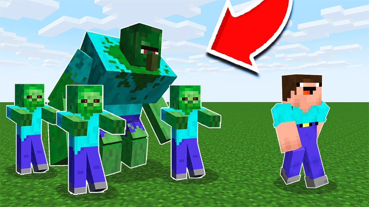 Майнкрафт жители vs зомби