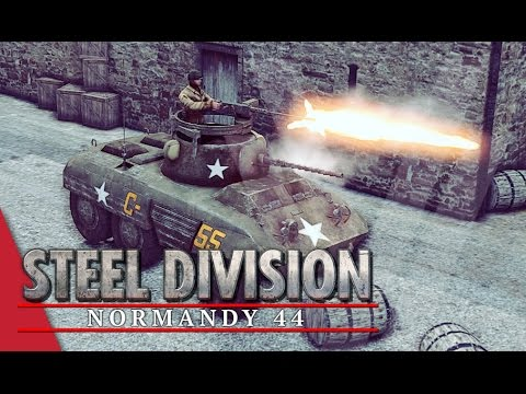 3rd Armoured Division! Steel Division: Normandy 44 Beta Gameplay #3 (Pointe du Hoc, 2v2)