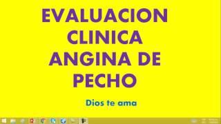 evaluacion clinica angina de pecho