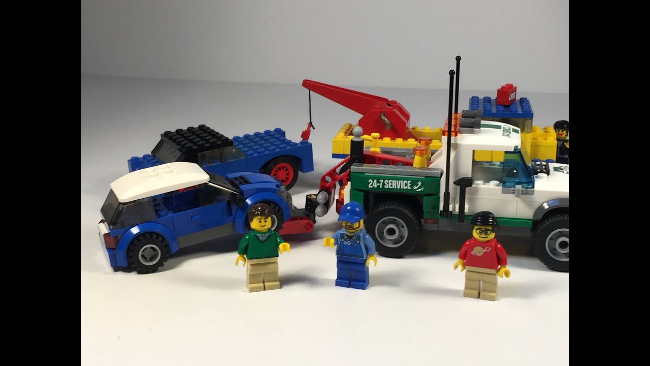 lego  pickup tow truck compared  vintage set youtube