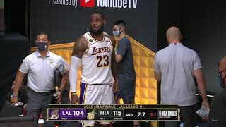LeBron James Walks Off Court Early At The End of Game 4   2020 NBA Finals