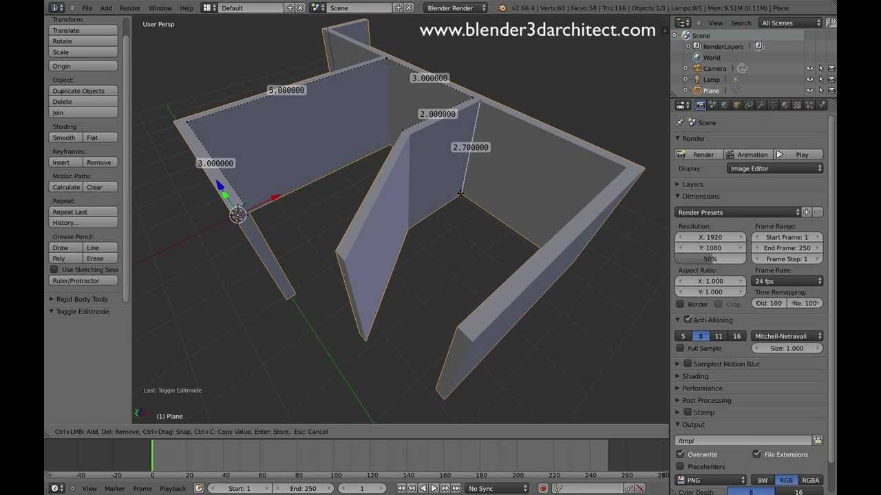 3d Ruler For Architectural Modeling In Blender Youtube