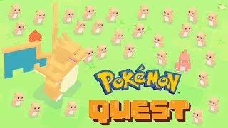 Pokémon Quest Endless Boss Wave - Boss Fight Tauros Pokemon, Charizard Pokemon and Raichu Pokemon