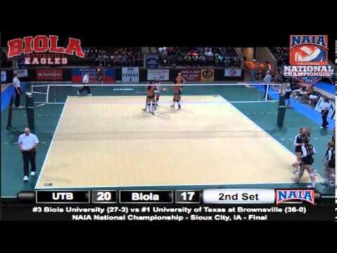 NAIA 2013 Volleyball National Championship UTB vs Biola