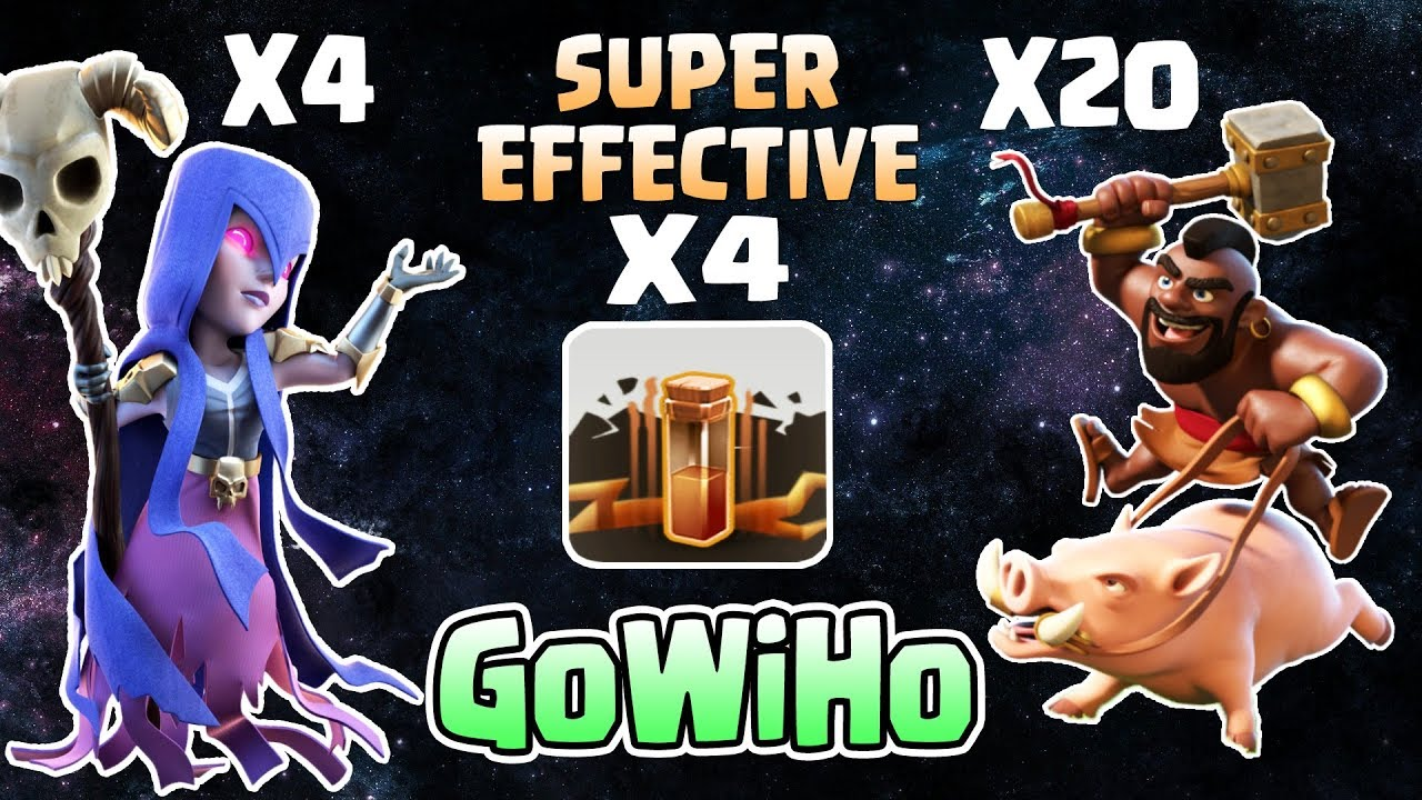 Download GoWiHo - Town Hall 9 (TH9) War Attack Strategy - 2018 | Super Effective Strategy ( Witch + Hogs )