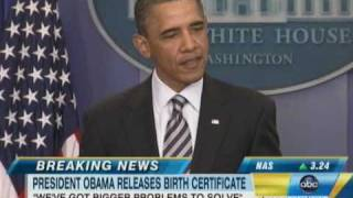 Barack Obama Releases Birth Certificate, Donald Trump Proud