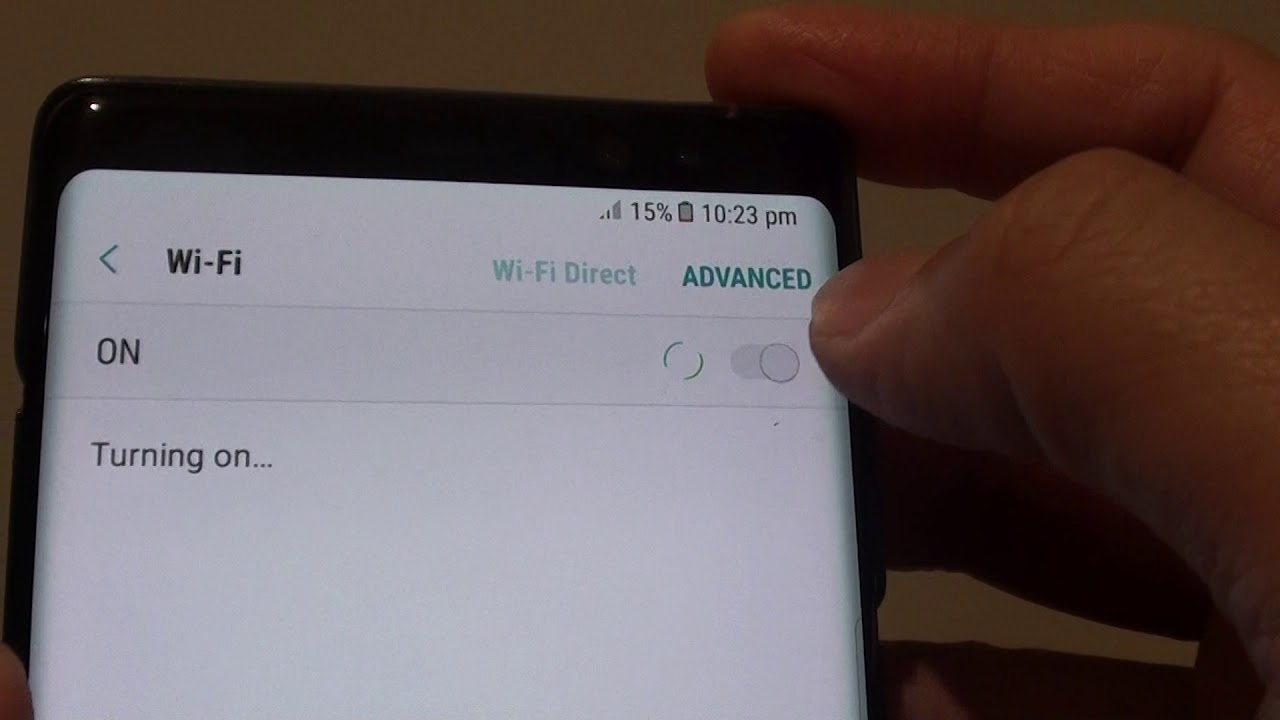Samsung Galaxy Note 8: How to Connect to a WiFi Network